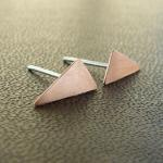 Tiny triangle earrings . Co..